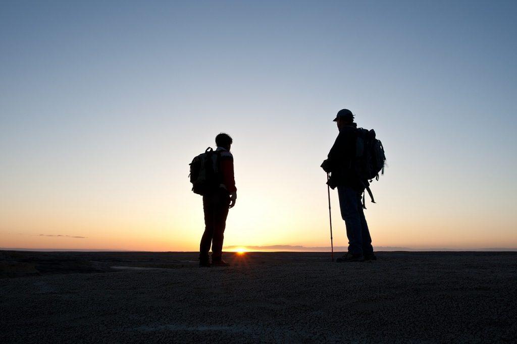 2 men walking