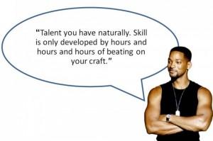 skill vs talent