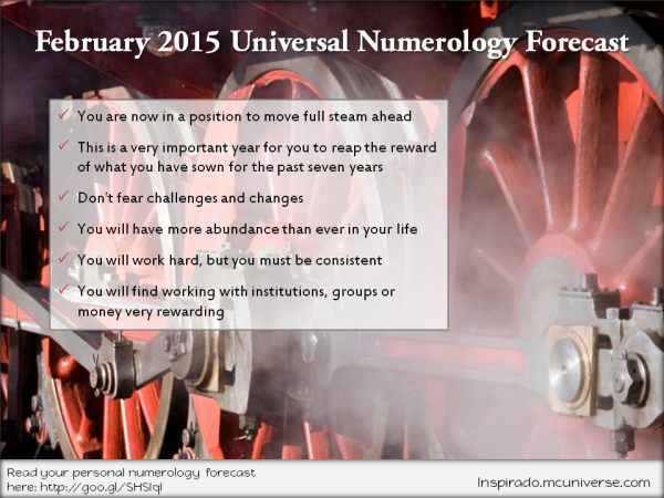 February 2015 Universal Numerology Forecast