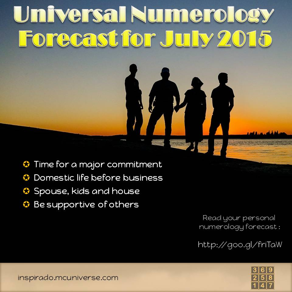 July 2015 Numerology Forecast