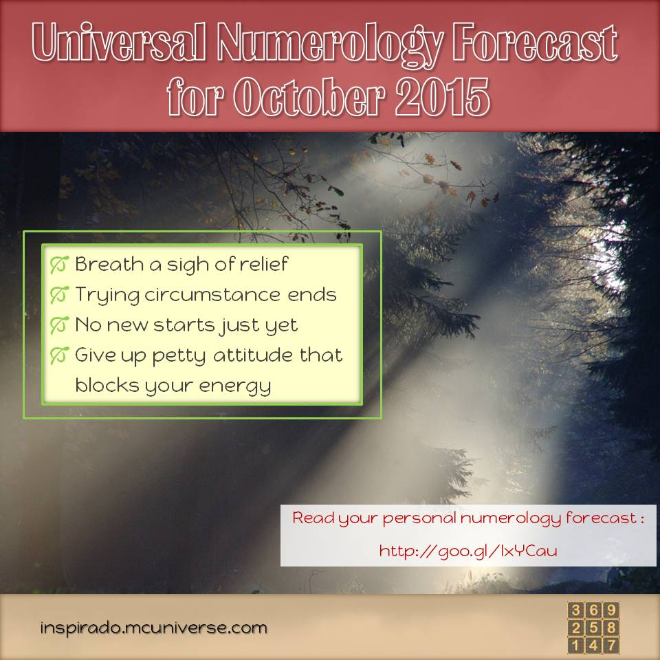 October 2015 numerology forecast