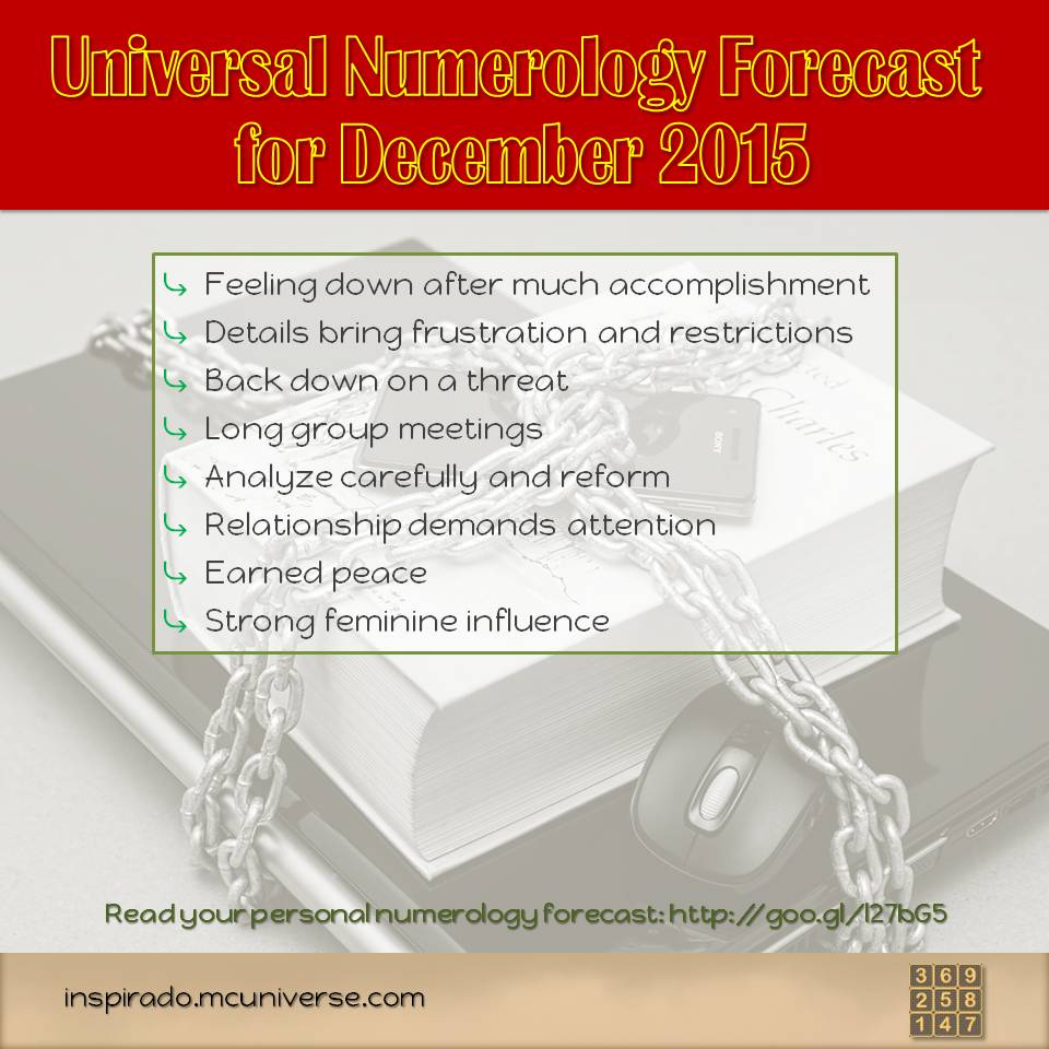 December 2015 Numerology Forecast