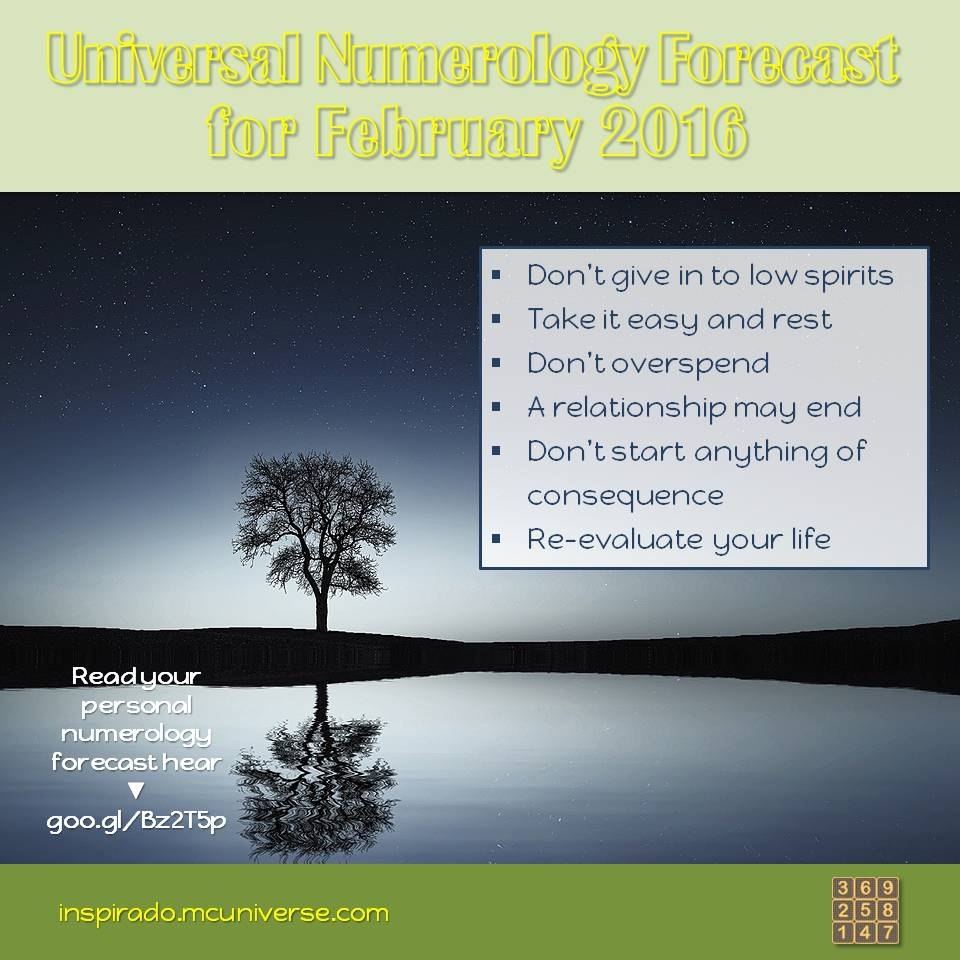 february 2016 numerology forecast
