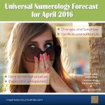 April 2016 – Numerology – Changes & Surprises