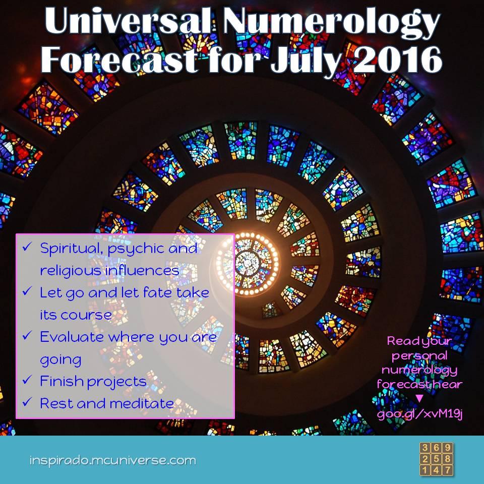 july 2016 numerology forecast