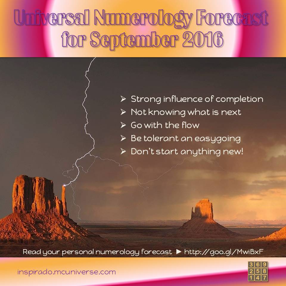 September 2016 numerology forecast