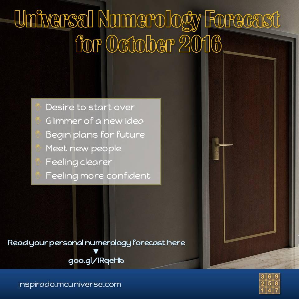 2016 October Numerology Forecast
