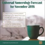 A Month to Take It Easy | Nov 2016 – Numerology Forecast