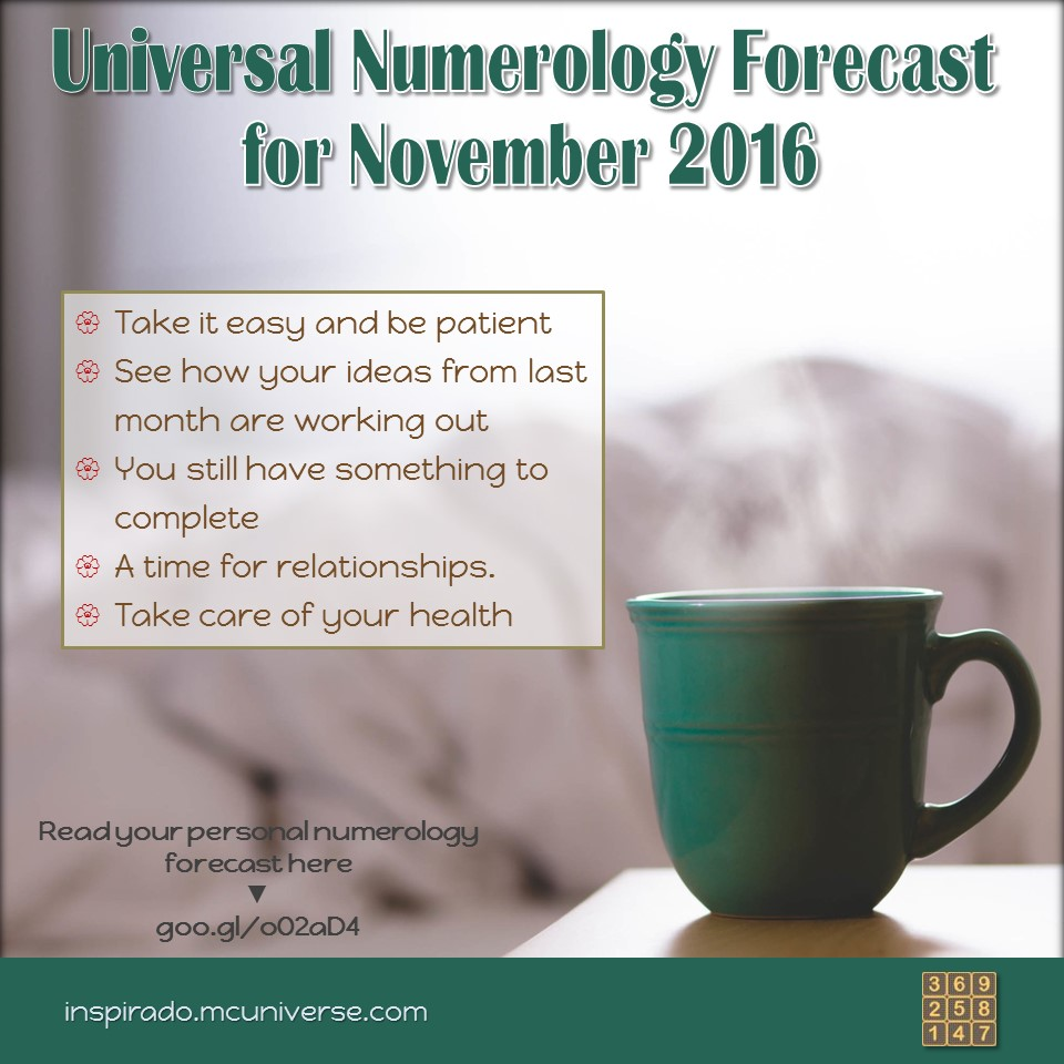 Nov 2016 numerology forecast