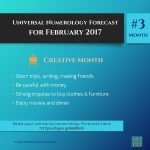 Creative Time | Feb 2017 – Numerology Forecast