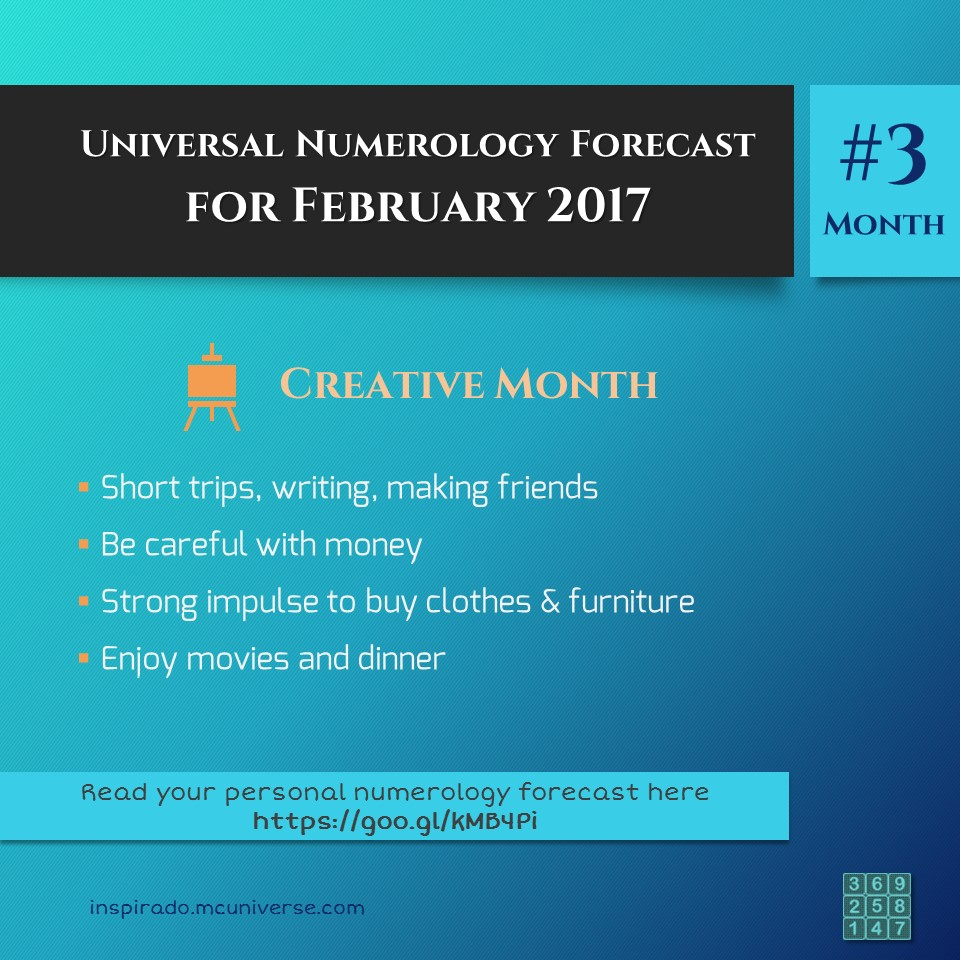 February 2017 Numerology Forecast