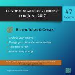 Refine Ideas + Goals – June 2017 – Numerology Forecast