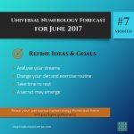 Refine Ideas + Goals – June 2017 – Numerology Forecast