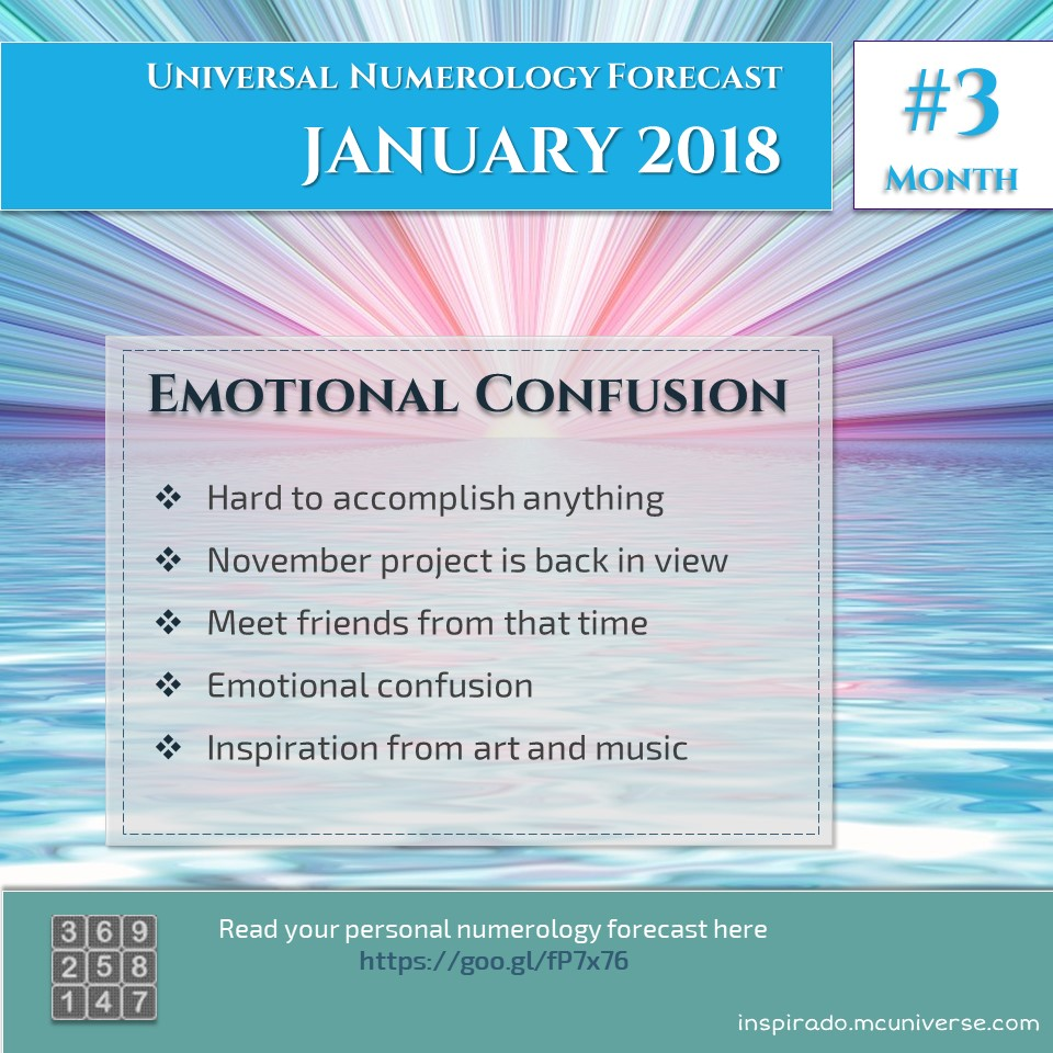 Emotional Confusion – Jan 2018 – Numerology Forecast