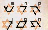 hebrew alphabet in Star of David 3